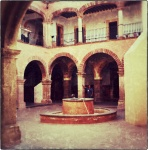 Courtyard in Mexican church