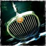 A Classic Jaguar Car Grill