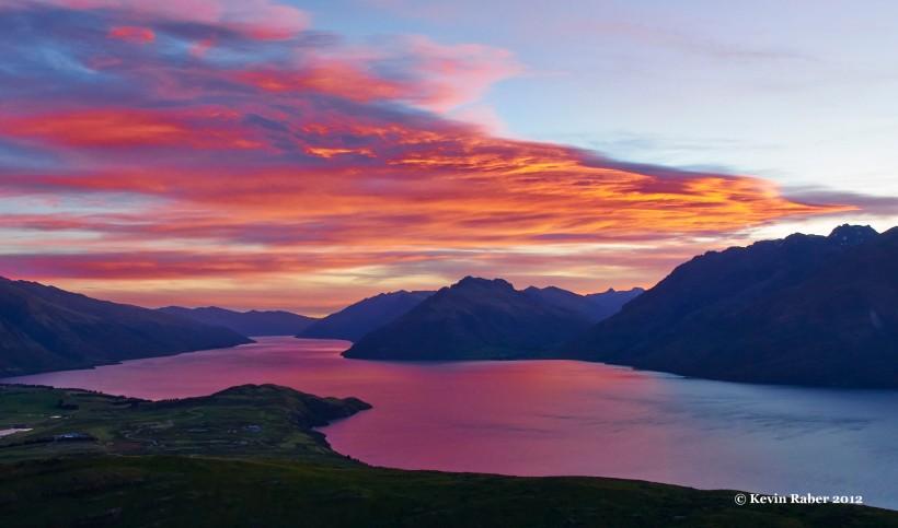 Sunset at Deer Park, Queenstown, New Zealand