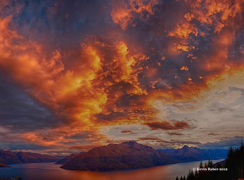 Sky On Fire, Queenstown, New Zealand