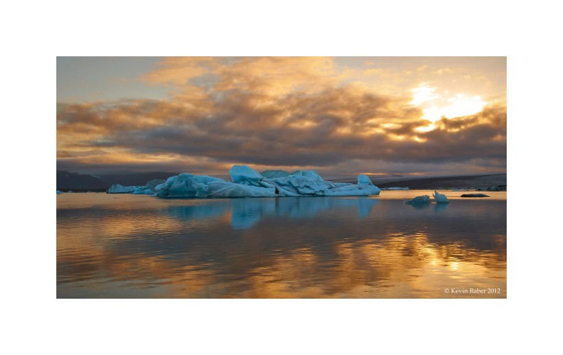 Jökulsárlón Iceberg Lagoon, Sunset and Sunrise, Iceland