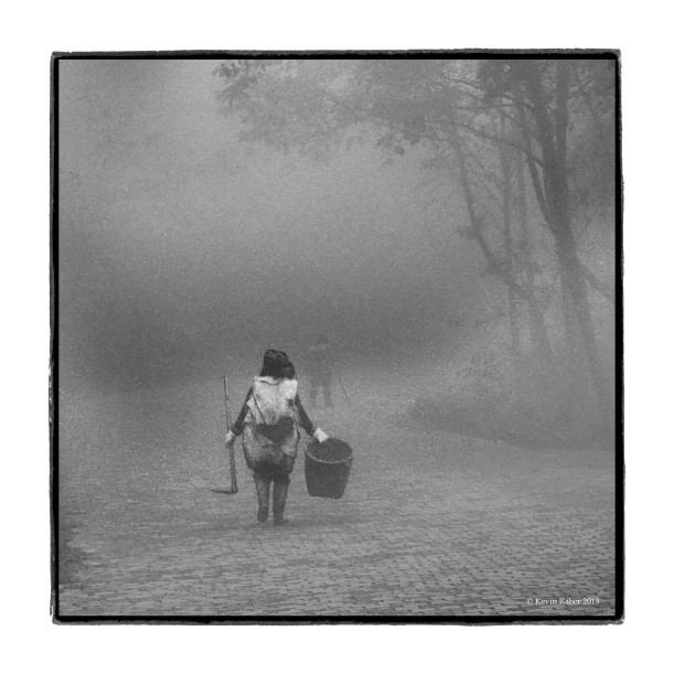 Two Women Fade Into The Fog, China