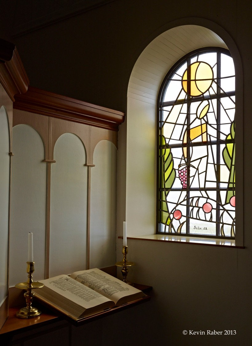 Church Window and Bible, Iceland