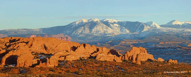 3 stitch pano in Arches NP, shot with a Phase One IQ180 and 240mm lens