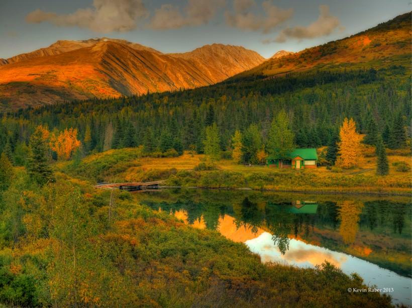Cottage on A Lake, Alaska
