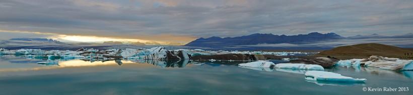 Jökulsárlón , Iceland, Iceberg Lagoon, Pano