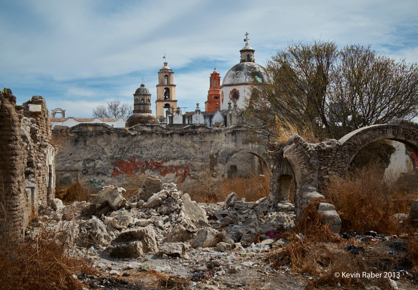 Atotonilco, Mexico, ruins near the Church