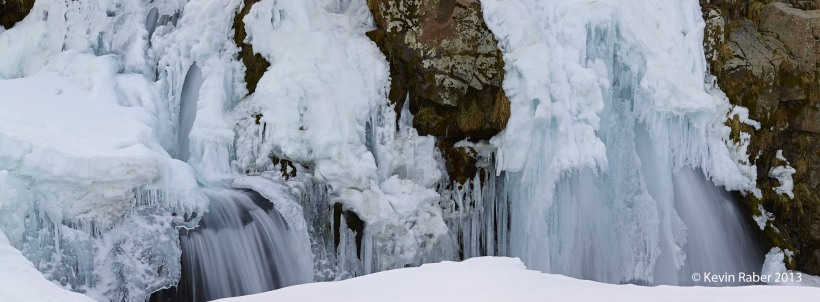 Frozen Waterfall, Iceland