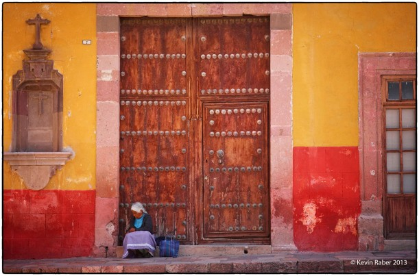 Lady In Doorway, San Miguel, Mexico