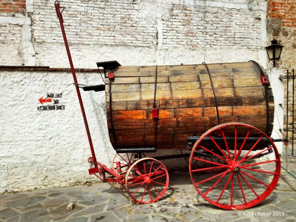 Water Cart At The Bull Fighting Ring in San Miguel