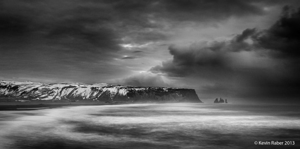 Near Vik, Iceland.  The image looks like the night felt