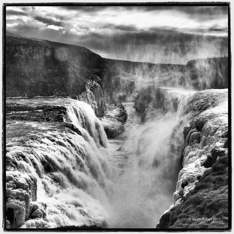 Gullfoss falls a bit differently