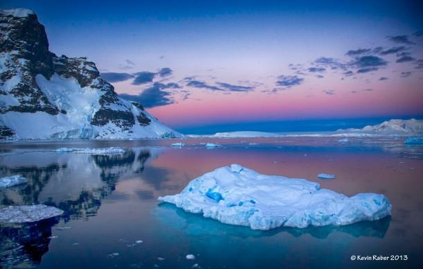 Sunset - sunrise and iceberg