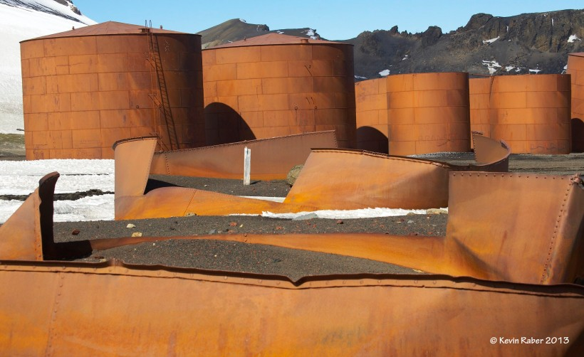 Rusting whale oil tanks