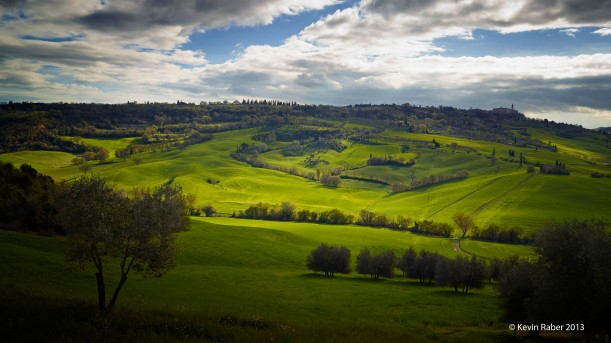 Magic Light On A Tuscany Hillside
