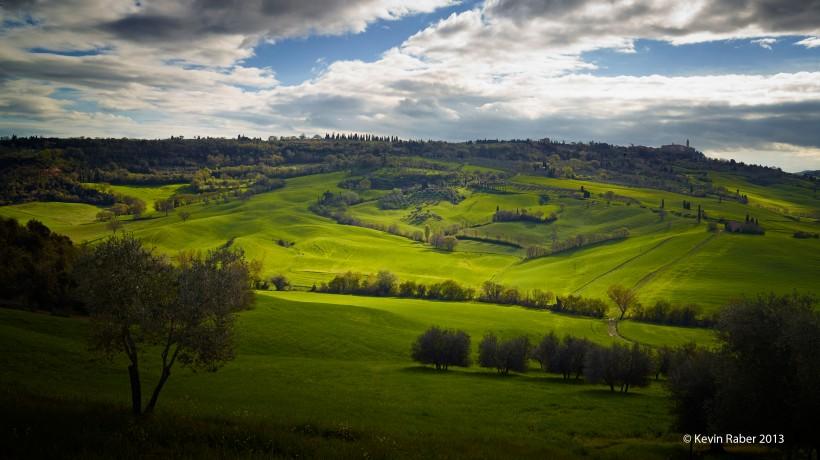 Magic Light On A Tuscany Hillside