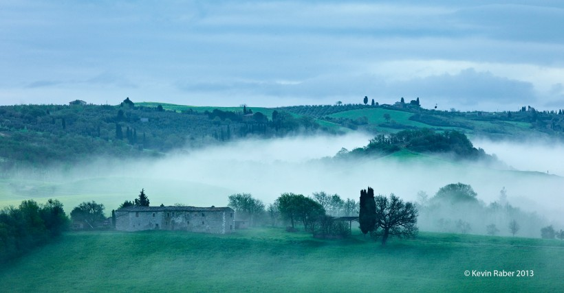 Foggy Cold Morning In Tuscany