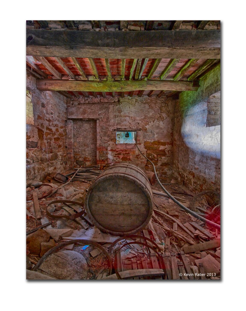 Barrel Room, Abandoned Farm House, Tuscany, Italy