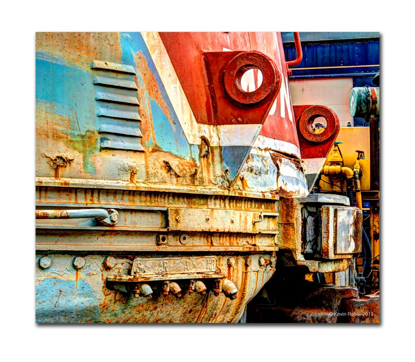 Front Of The Monon Diesel Locomotive