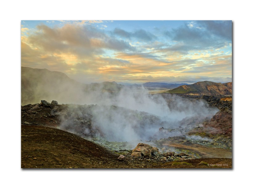Geothermal Field, Iceland at Sunset