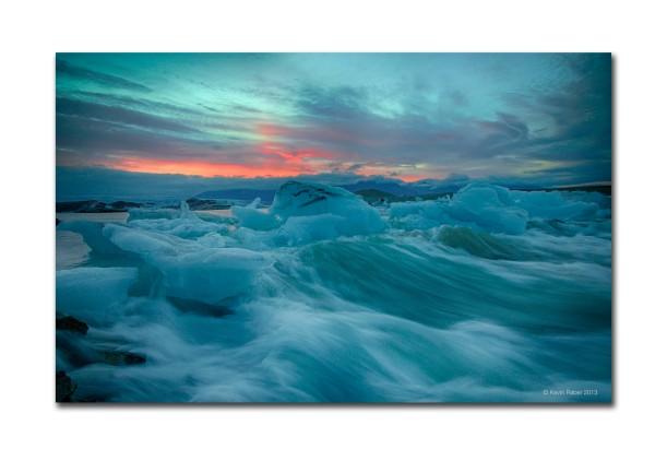 Jökulsárlón, Iceberg Rapids, Iceland