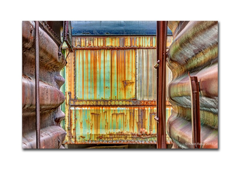 Between Two Train Cars