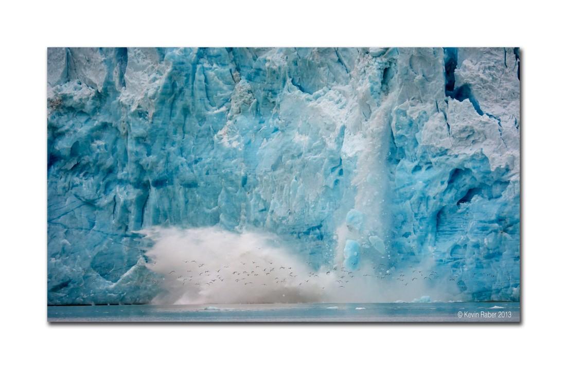 Glacier Calving, Arctic Circle Region