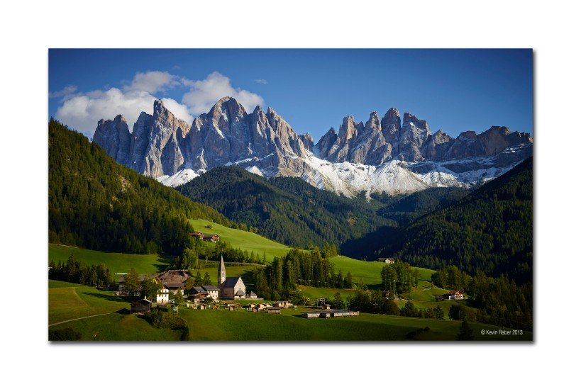 Church and Mountains, Dolomites, Italy
