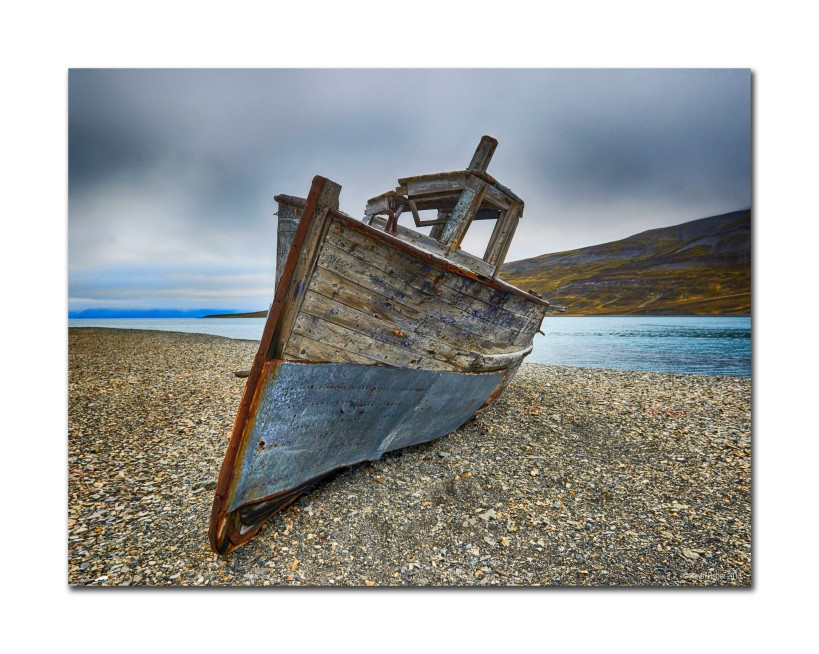 Boat On The Beach, Svalbard,