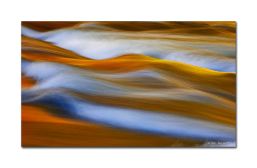 Fall Colors and moving water, Algonquin Park, Ontario, Canada