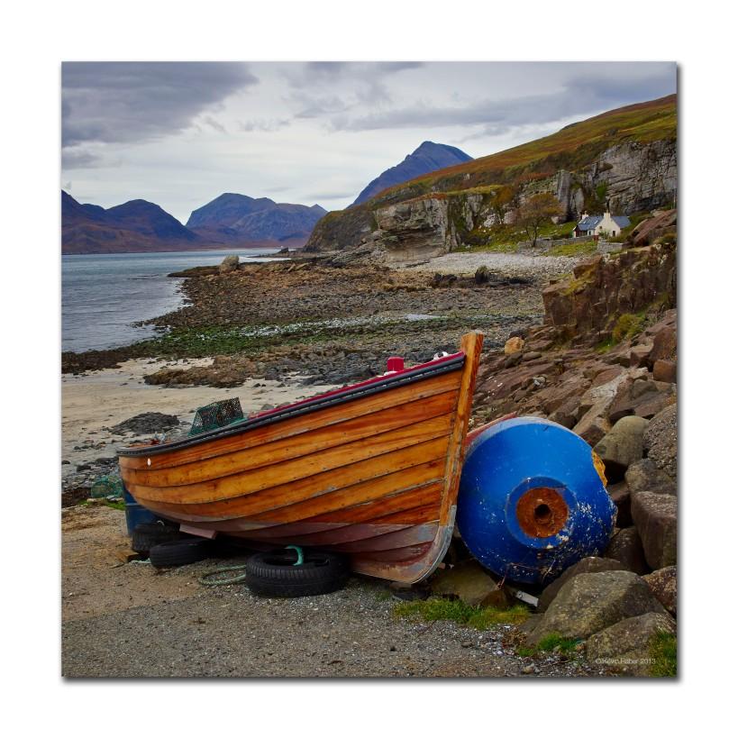 Beached Boat, Isle Of Skye, Scotland