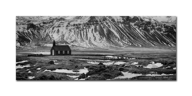 The Black Church, Iceland.  Made with a six image stitch and IQ180