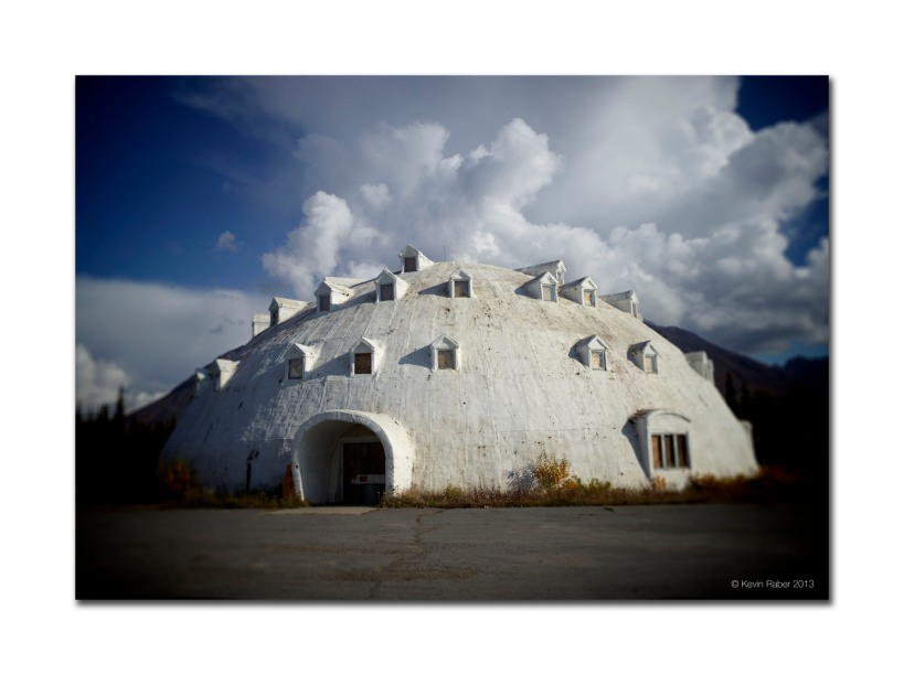 Igloo Building near Denali NP, Alaska