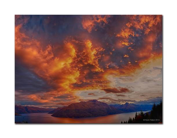 Sunset in Queenstown, New Zealand