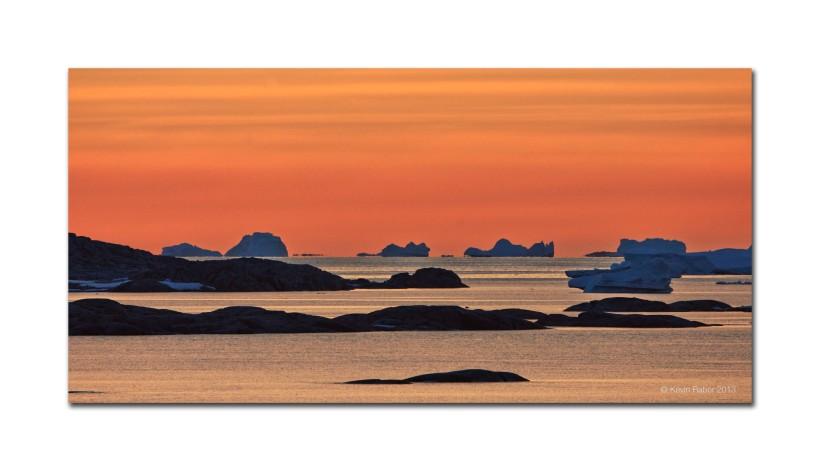 Sunset, Iceberg Graveyard, Antarctica