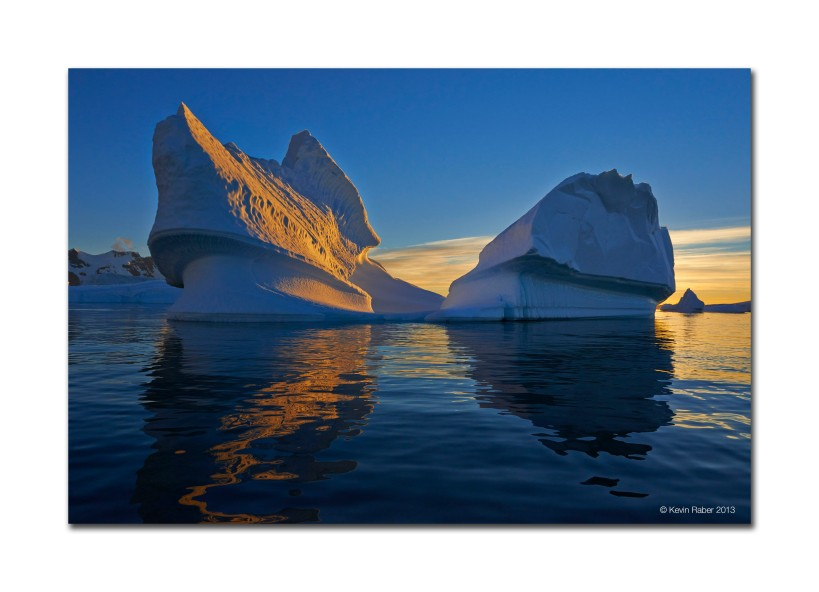 Iceberg At Sunset, Planeu Bay, Antarctica