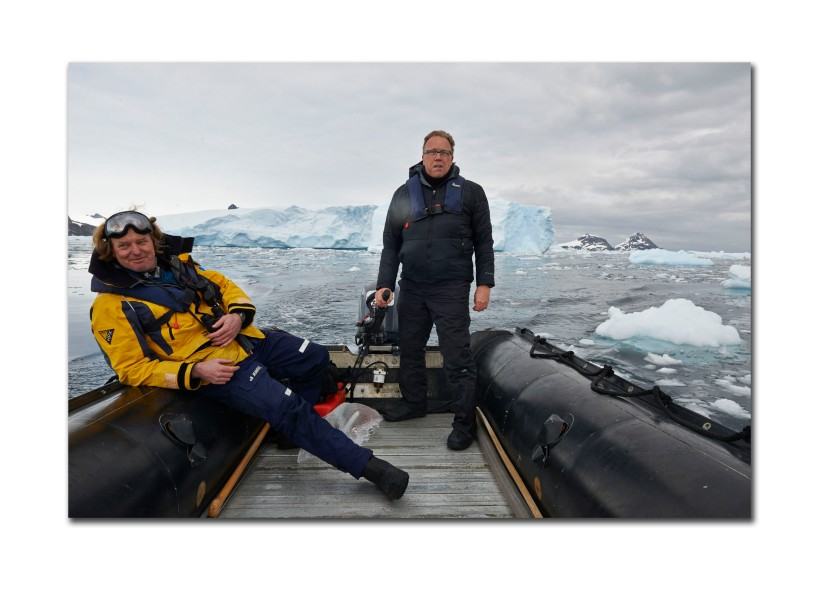 Kevin Raber navigates icebergs in Antarctica
