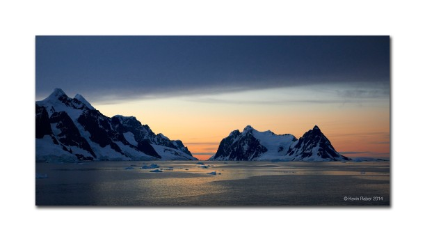 The Lemaire Channel At Sunrise, Antarctica