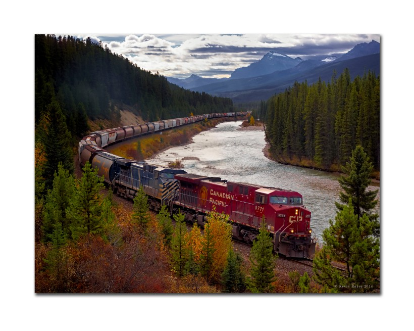 Morant's Curve, The Canadian Rockies