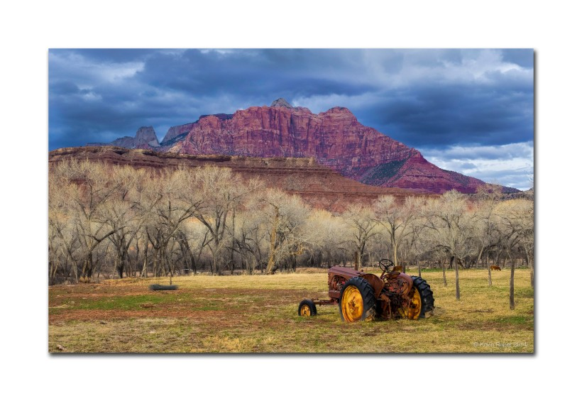 Tractor In Field, Near Zion National Park