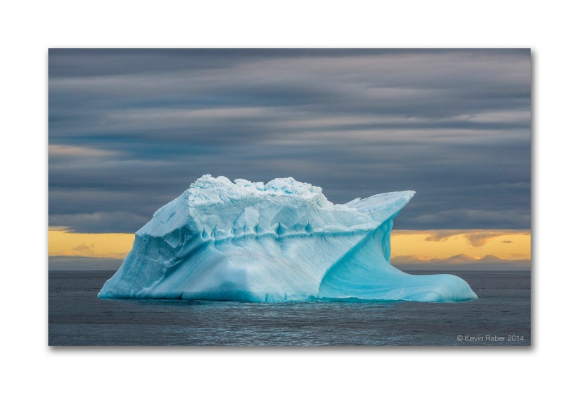 Beautiful Iceberg, 24 hours of light, Svalbard, Norway