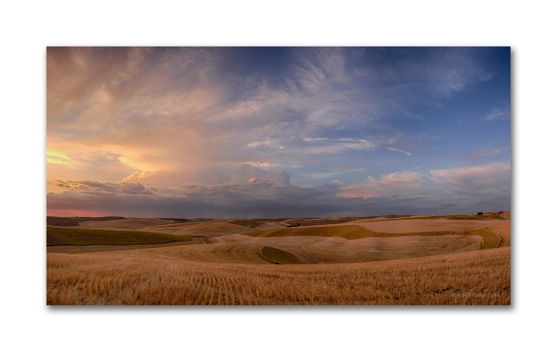 A 9 Image Stitch Sunset In The Palouse