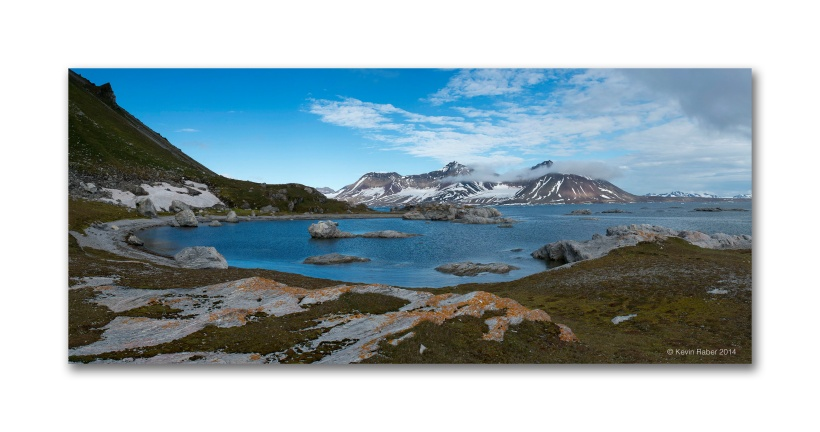 Svalbard Coastline Panorama, made from 14 images stitched together.