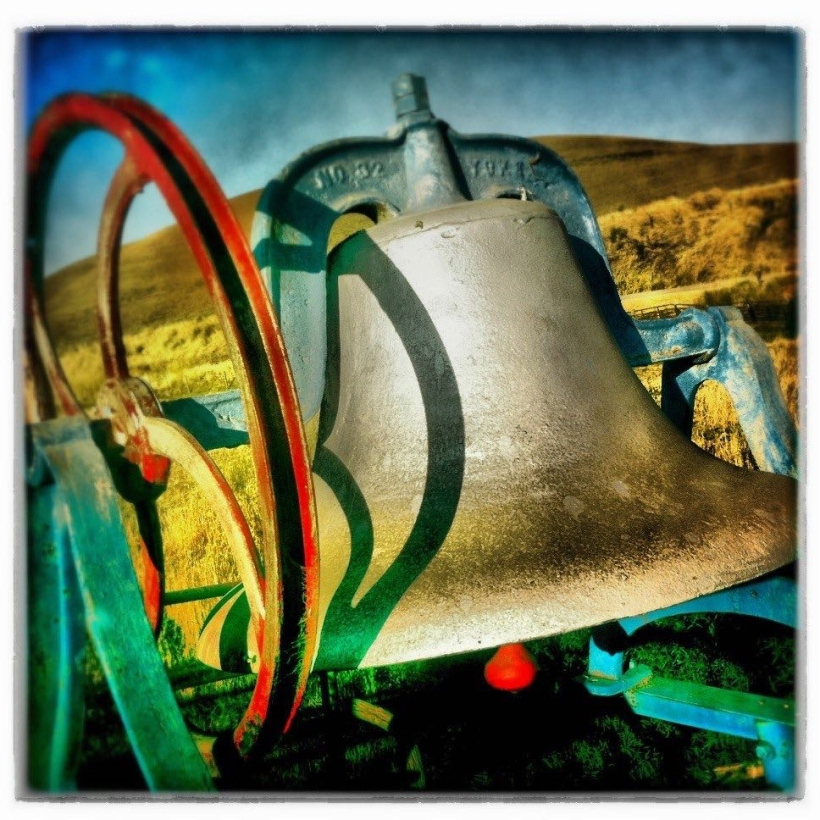 One of the many bells at the Bell House