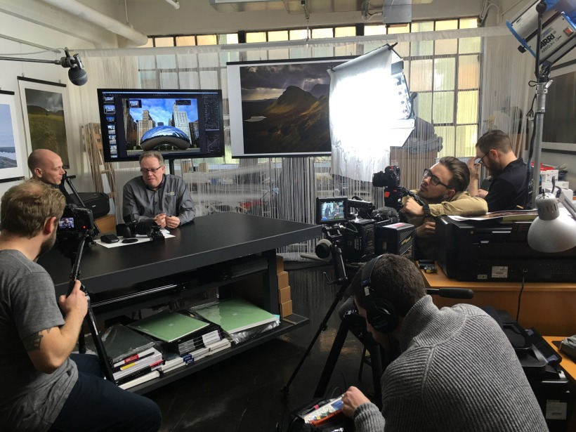 Video shoot at the Luminous-Landscape offices in Indianapolis