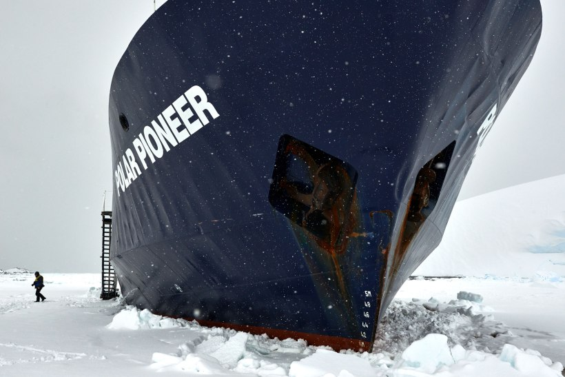 Polar Pioneer sitting on ice