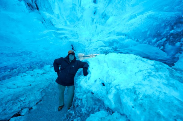 Me. Kevin Raber in the Ice Cave