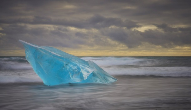 Iceberg on the beach